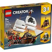 Lego 31109 Creator 3in1 Pirate Ship Building Kit New With Sealed Box