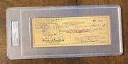 Cecil B. Demille Autograph - Signature On Check - Psa/dna Certified From 1945