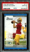 2005 Bowman Aaron Rodgers 112 Rookie Rc Psa 10