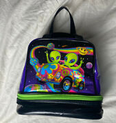 Lisa Frank Zoomer And Zorbit Aliens Vintage Psychedelic Circa 1990s Lunch Bag