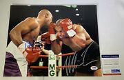 Mike Tyson Evander Holyfield Double Dual Signed 11x14 Photo Psa Dna Coa