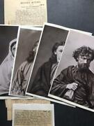 Anton Lang Oberammergau Passion Play Signed Photographs 1890