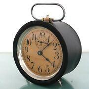 Junghans Ww2 Army Alarm Mantel Clock Antique Bell 1940s Restored Germany Rare