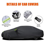 Black Car Protecter Cover Waterproof Breathable With Mirror Pocket Usa F5c6