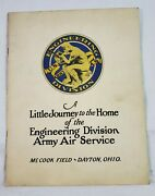 1919 Wwi Army Air Service Engineering Division History Aviation Mccook Field