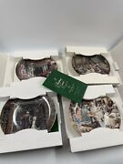Set Of 4 Department 56 A Christmas Carol 1, 2, 3 And 4 Collector's Plates Complete