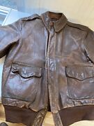 Wwii A2 Jacket Rough Wear Refurbished By Flight Suits Gibson And Barnes 40