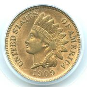 1909-s Indian Head Cent Pcgs Ms64rd Key Date