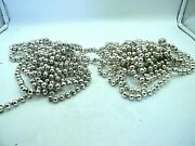 Vintage Silvered Mercury Glass Christmas Garland Beads 2 Sets Total 29ft