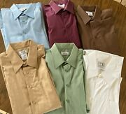Lot Of 6 64 Ea. Euc Kings' Court Mens Sz 18 Tall Cotton/polyester Shirts -look