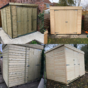 Wooden Garden Shed Pent Roof Heavy Duty Shiplap Tandg Floor And Roof Free Delivery