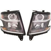 Headlights Lamps Set Of 2 Left-and-right For Chevy 84166453 84166452 Tahoe Pair