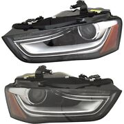Set Of 2 Headlights Lamps Left-and-right 8k0941044e 8k0941043e Lh And Rh Pair