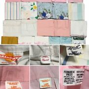 Mixed Lot Of 22 Vintage Pillowcases Craft Cutter