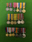 Collection Of Ww2 And Wwii Miniature Medals. Mid. Mbe. Territorial Medal.4x
