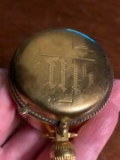 Nice - Antique Pyx Gold-filled Ihs Communion Host Box - Swift And Fisher