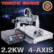 【usa】2.2kw 4 Axis 6040 Usb Mach3 Cnc Engraving Drilling Mill Router Machine 110v