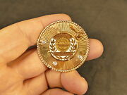 14k Gold 3 2.5mm Diamonds Hadassah President Brooch 17.6 Gms Vintage Judaica