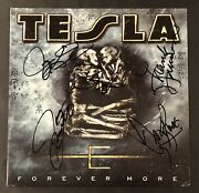 Tesla Forever More Rare Out Of Print Vinyl Record Signed By Entire Band Jsa Coa