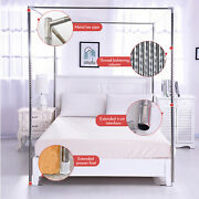 Stainless Steel Frame Mosquito Netting Curtain Bracket Bed Canopy Post