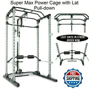 Fitness Reality 810xlt Super Max Power Cage With Lat Pull-down Attachment