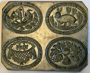 Antique Metal And Wood Springerle Cookie Mold. Museum Quality. Rare Rare.
