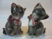 Royal Copley 8 Brown Cat Figurines Left And Right Facing In Excellent Condition