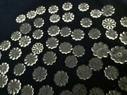 100 Vintage Carved Glass Rosettes Flowers For Chandelier Parts Up To 2 Inch