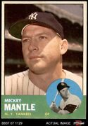 1963 Topps 200 Mickey Mantle Yankees 5.5 - Ex+