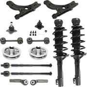 Control Arms Set Of 14 Front Left-and-right For Vw With Bushings Sedan Lh And Rh