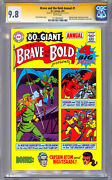 The Brave And The Bold Annual 1 Cgc-ss 9.8 Signed Carmine Infantino Reprint 2001