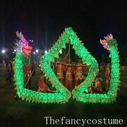 10m Adult Led Dragon Dance Silk Fabric Chinese Culture Folk Costume Stage Prop