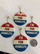 Homelite Chainsaw Sign Vintage Original Button Advertising Lot X4