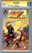 Groo Vs Conan 1 Cgc-ss 9.8 Signed And Sketch By Orig Artist Sergio Aragones 2014