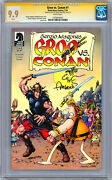 Groo Vs Conan 1 Cgc-ss 9.9 Signed And Sketch By Orig Artist Sergio Aragones 2014