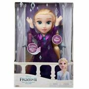 Disney Frozen 2 Elsa Musical Doll Sings Into The Unknown And Features 14 Film...