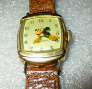 Mickey Mouse 1946 Kelton Watch / Vintage Walt Disney Watch Made One Year Only