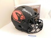 Budda Baker Signed Cardinals Full Size Authentic Eclipse Speed Helmet Becket