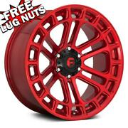 18 Inch 18x9 Fuel D719 Heater Candy Red Wheels Rims 6x135 +1