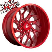24 Inch 24x14 Fuel D742 Runner Candy Red Wheels Rims 8x180 -75