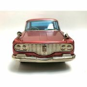 Toyopet Tin Crown Deluxe Made In Japan Wine Red There Is A Bend In The Mirror