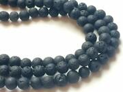 13 Inch Natural Lava Beads Plain Round Balls Lava Bead For Jewelry 8mm