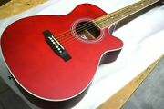 Mahogany Wood Acoustic Guitar Folk-size 40and039and039 Cutaway Free Shipped In Usa