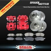 For Ford Five Hundred Taurus Front+rear Brake Calipers And Rotors + Ceramic Pads