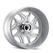 24 Inch 24x14 American Truxx At1900 Sweep Brushed Wheels 8x6.5 8x165.1 -76