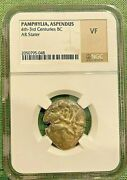Pamphyliaaspendus 420-400bc Ar Obv. Two Wrestlers Standnig Stater 10.9 G Ngc Vf
