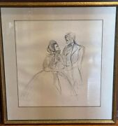 John Groth Pen And Ink Illustration - Gone With The Wind Book Signed/dated 1967