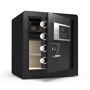 1.7 Cubic Feet Digital Lock Box W/ Light For Money Safe Cash Jewelry Security