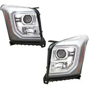 Headlights Lamps Set Of 2 Left-and-right 84294008 84294007 Lh And Rh For Gmc Pair