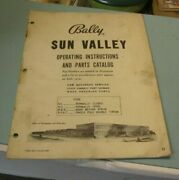 Vintage 1960's Bally Sun Valley Pinball Machine Instructions And Parts Catalog